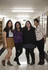 Left to right: Savannah Badalich, Ayesha Kahn, Alexandra Tashman, and Arami Walker.