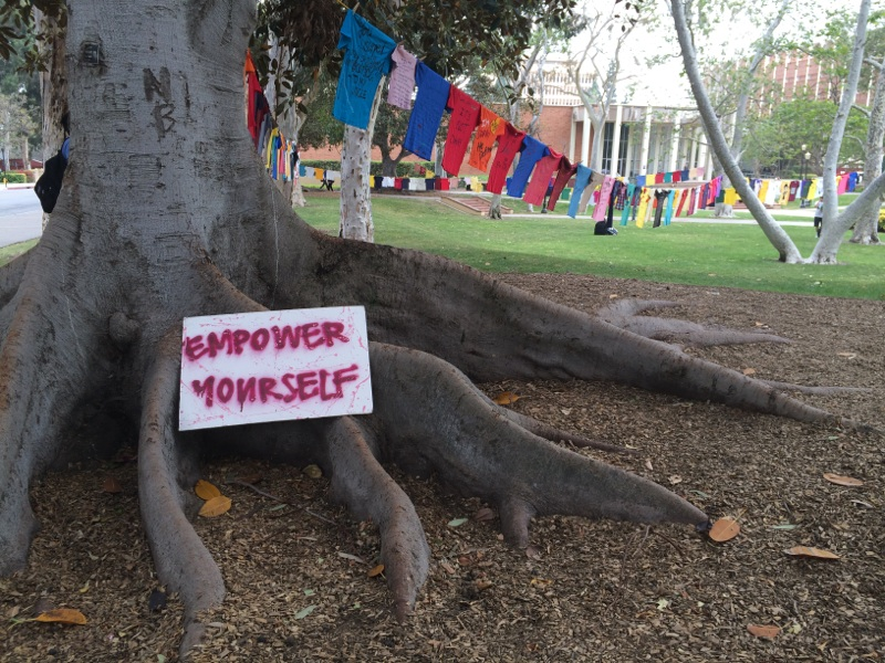 Photo of The Clothesline Project at UCLA