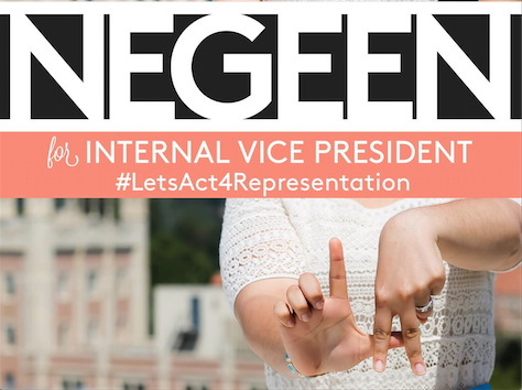 Photo of Negeen: Outspoken Feminist, USAC IVP Candidate