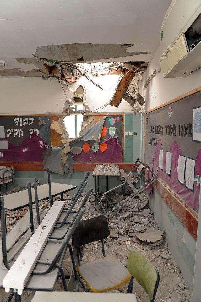 """Beersheva Kindergarten After Rocket Attack from Gaza"" by Avi Ohayon"
