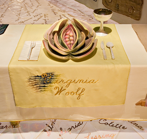 The Virginia Woolf placemat, Courtesy of the Brooklyn Museum of Art