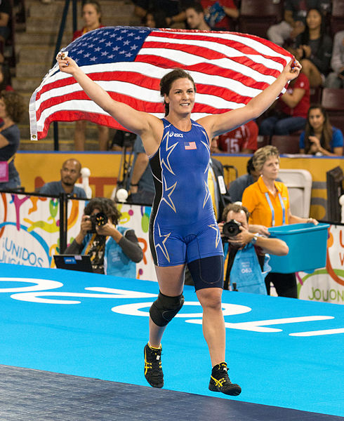 Adeline_Gray_at_2015_Pan_Am_Games_victorious
