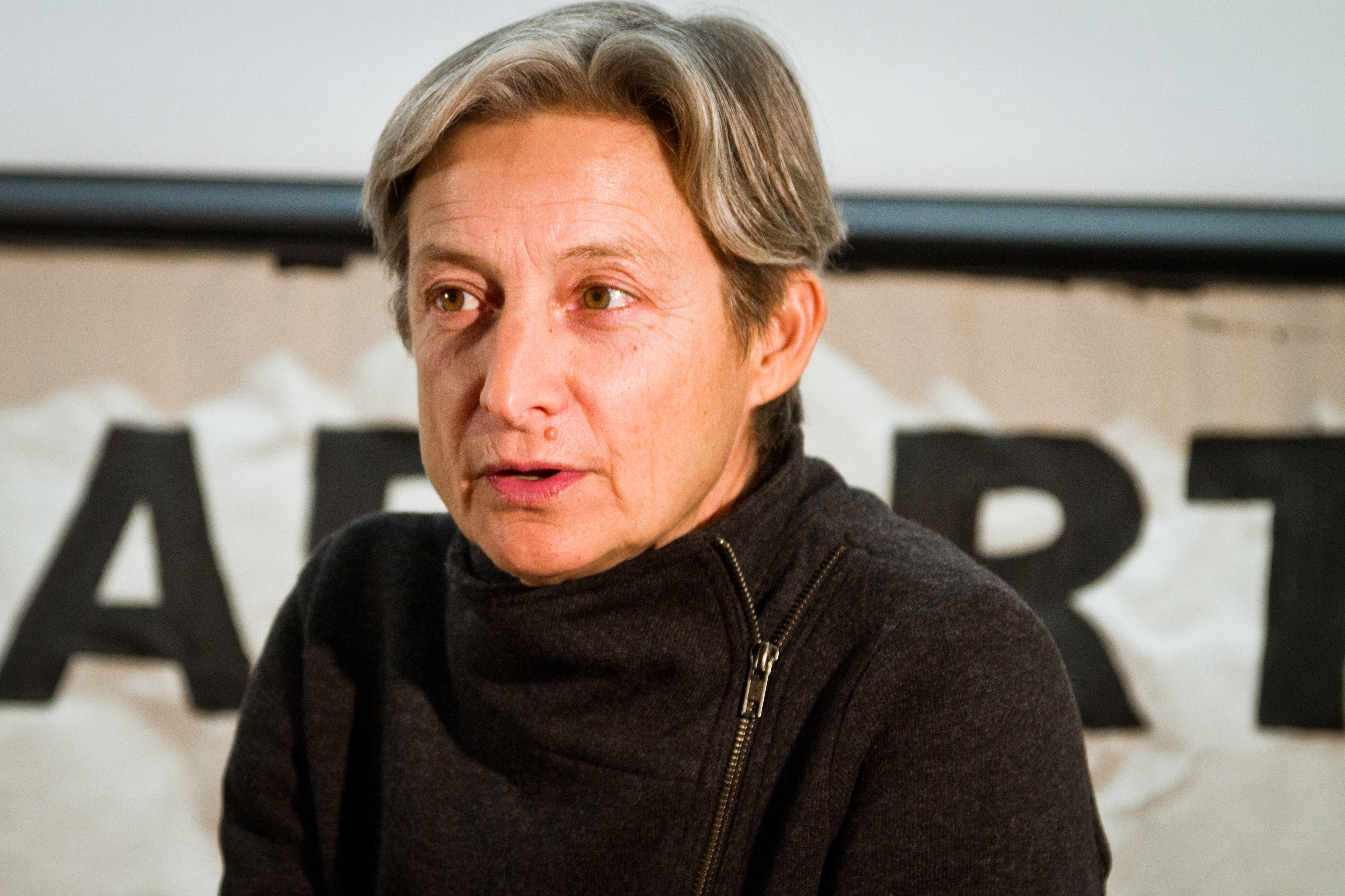 "Photo of Judith Butler at UCLA: ""This is What Resistance Looks Like"""
