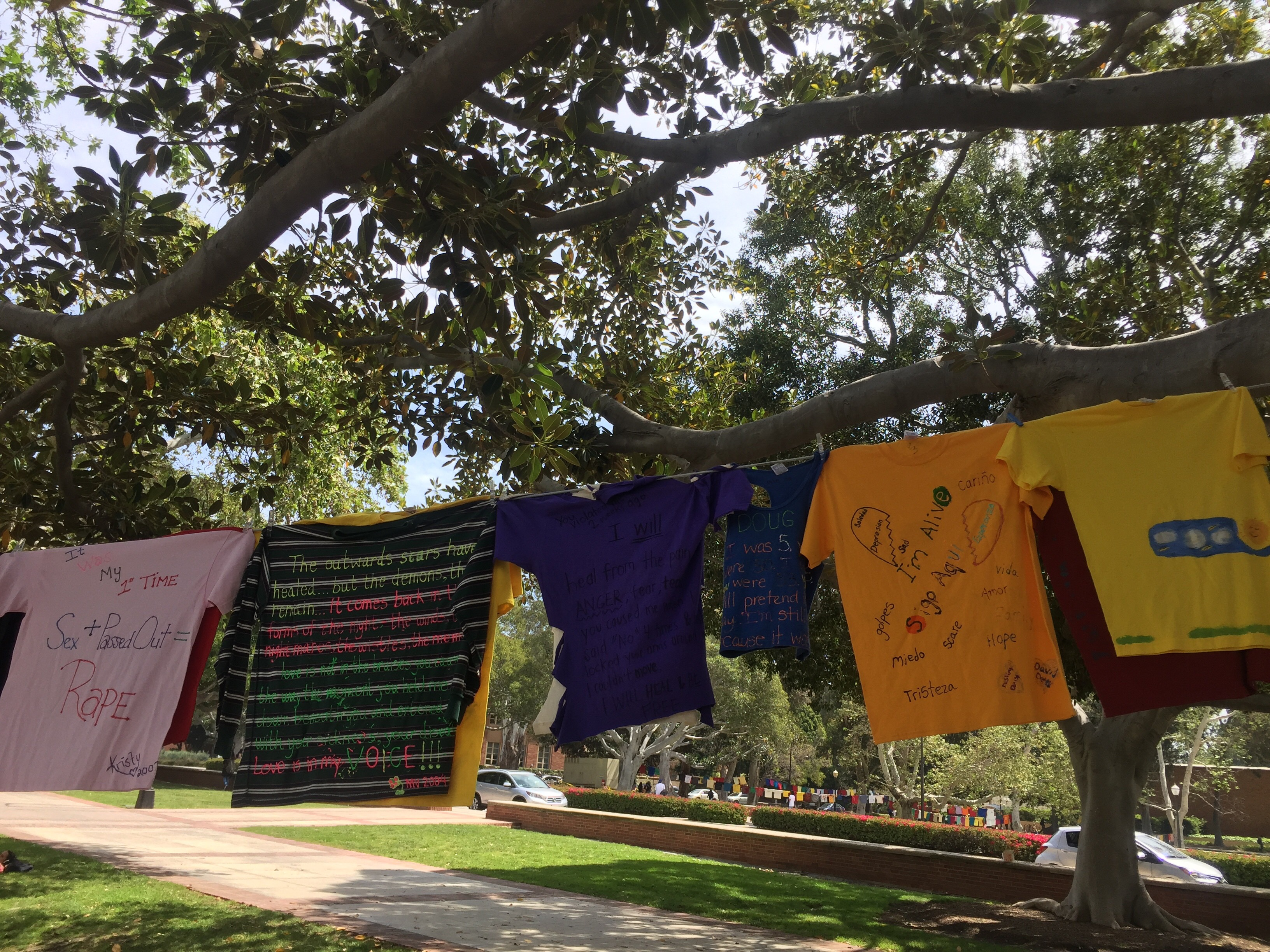 Photo of UCLA's Clothesline Project