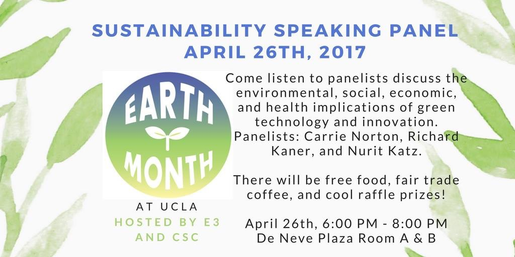 Photo of Earth Month 2017 Sustainability Speaking Panel
