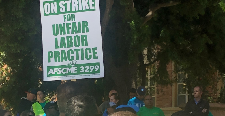 Photo of AFSCME Strike on Basis of Unfair Labor Charges