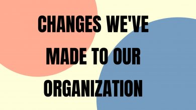 Photo of Our Updated Mission Statement & Changes to Our Organization