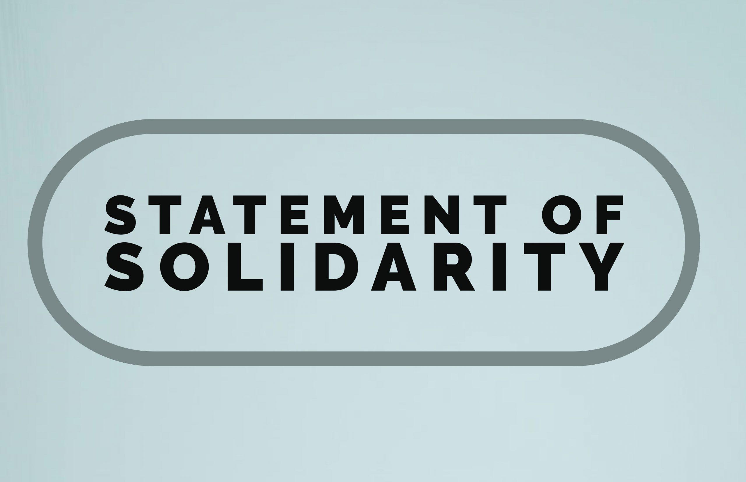 statement of solidarity